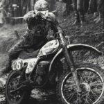 Motocross Aufstieg   Wandbild